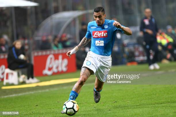 Allan Marques Loureiro of Ssc Napoli in action during the Serie A football match between Fc Internazionale and Ssc Napoli The final score was 00