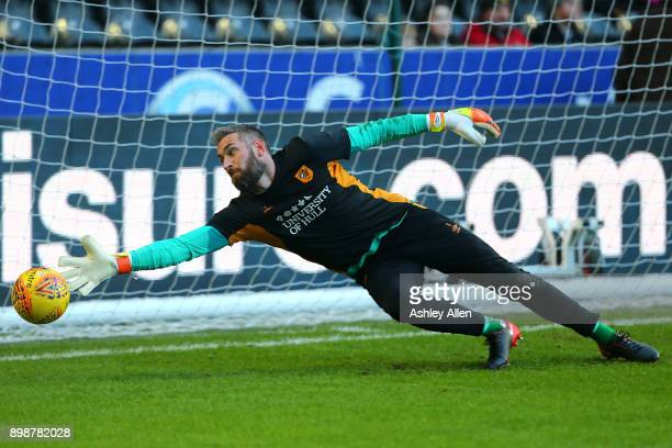 Allan McGregor goal keeper of Hull City during warms ups prior to the start of play during the Sky Bet Championship match between Hull City and Derby...