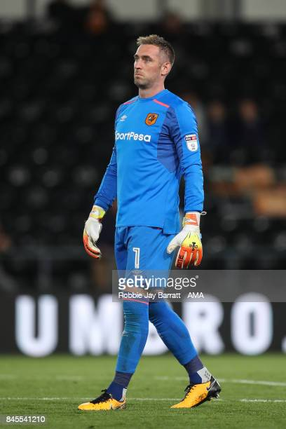 Allan McGregor of Hull City during the Sky Bet Championship match between Derby County and Hull City at iPro Stadium on September 8 2017 in Derby...