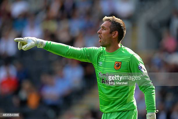 Allan McGregor of Hull City gives the thumbs up during the Sky Bet Championship match between Hull City and Huddersfield Town at KC Stadium on August...