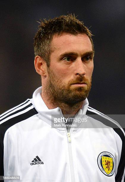 Allan McGregor of Scotland during the FIFA 2014 World Cup Qualifying Group A match between Scotland and Croatia at Hampden Park on October 15 2013