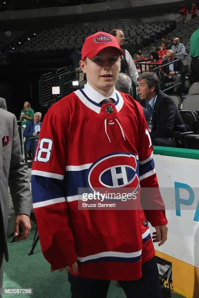 Allan McShane after being selected 97th overall by the Montreal Canadiens during the 2018 NHL Draft at American Airlines Center on June 23 2018 in...