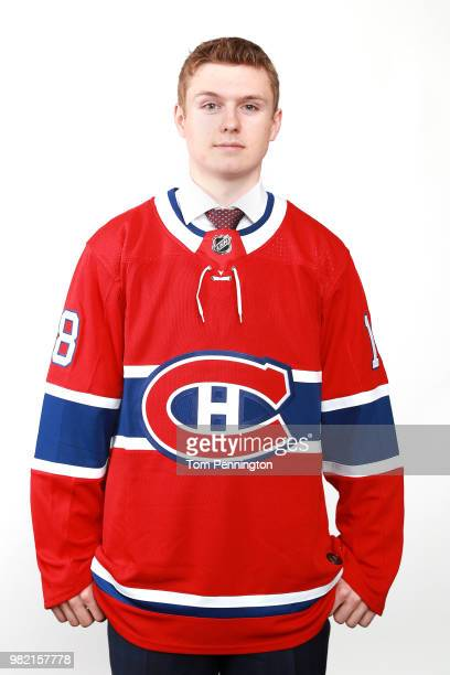Allan McShane poses after being selected 97th overall by the Montreal Canadiens during the 2018 NHL Draft at American Airlines Center on June 23 2018...