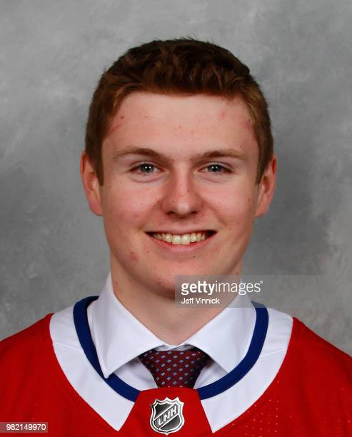 Allan McShane poses for a portrait after being selected 97th overall by the Montreal Canadiens during the 2018 NHL Draft at American Airlines Center...
