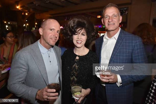 Allan Moore Lynda Kay and Bren Martin attend the House Of Cardin Special Screening At Palm Springs Modernism Week at The Plaza Theater on February 21...