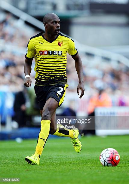 Allan Nyom of Watford during the Barclays Premier League match between Newcastle United and Watford on September 19 2015 in Newcastle upon Tyne...