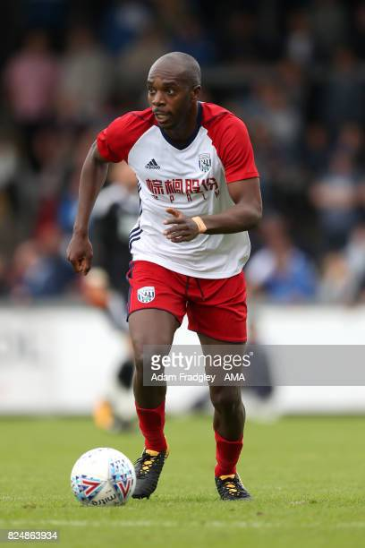 Allan Nyom of West Bromwich Albion during the Pre Season Friendly match between Bristol Rovers and West Bromwich Albion at Memorial Stadium on July...