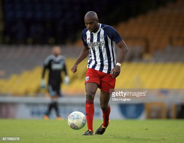 Allan Nyom of West Bromwich Albion during the pre season friendly match against Port Vale at Vale Park on August 1 2017 in Burslem England