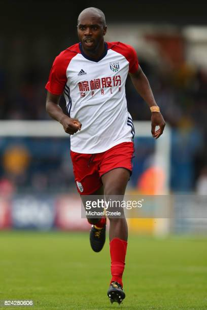Allan Nyom of West Bromwich Albion during the pre season match between Bristol Rovers and West Bromwich Albion at the Memorial Stadium on July 29...
