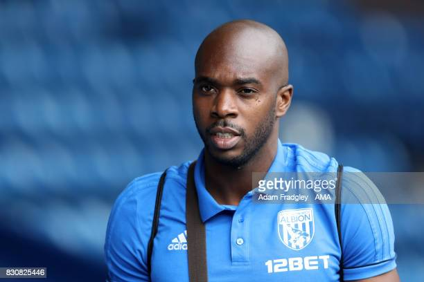 Allan Nyom of West Bromwich Albion during the Premier League match between West Bromwich Albion and AFC Bournemouth at The Hawthorns on August 12...