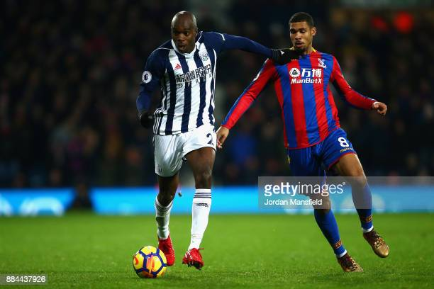 Allan Nyom of West Bromwich Albion is challenged by Ruben LoftusCheek of Crystal Palace during the Premier League match between West Bromwich Albion...