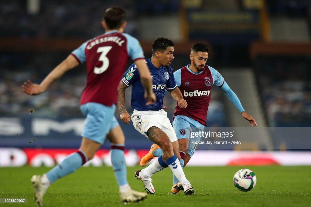Everton v West Ham United - Carabao Cup Fourth Round : News Photo