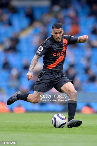 Allan of Everton during the Premier League match between Manchester City and Everton at the Etihad Stadium on May 23, 2021 in Manchester, England.