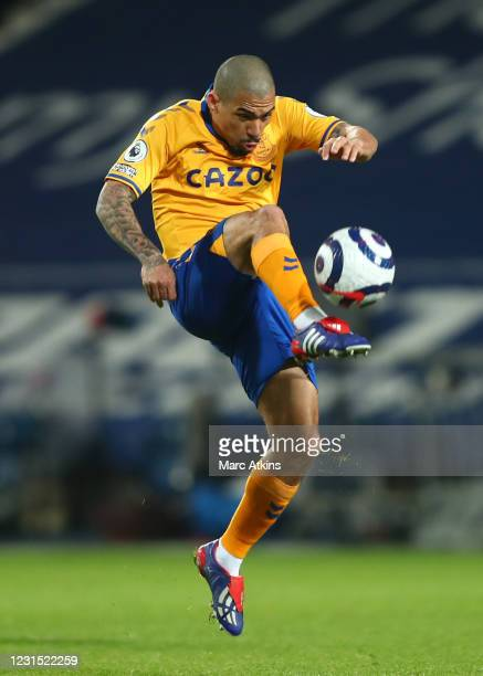 Allan of Everton during the Premier League match between West Bromwich Albion and Everton at The Hawthorns on March 4, 2021 in West Bromwich, United...