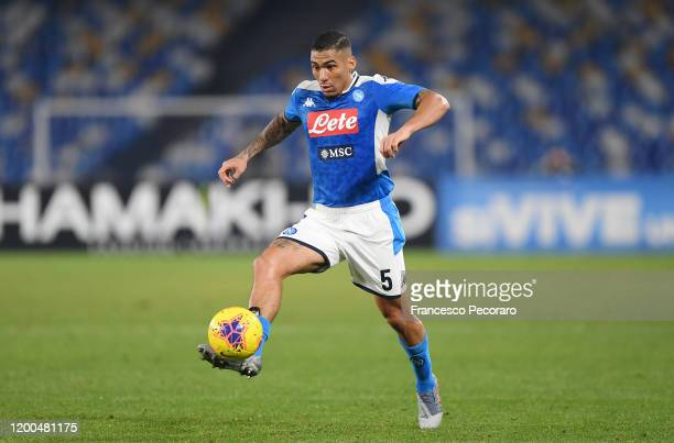 Allan of SSC Napoli during the Serie A match between SSC Napoli and ACF Fiorentina at Stadio San Paolo on January 18, 2020 in Naples, Italy.