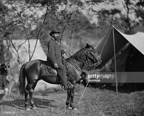 Allan Pinkerton who served as head of the Union Intelligence Service in 1861–1862 and foiled an alleged assassination plot in Baltimore Maryland...