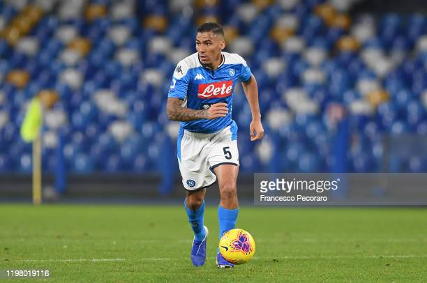 Allan player of SSC Napoli during the Serie A match between SSC Napoli and FC Internazionale at Stadio San Paolo on January 06, 2020 in Naples, Italy.