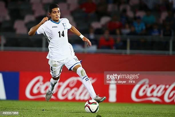 Allan Rivera of Honduras carries the ball during the FIFA U17 Men's World Cup Chile 2015 group D match between Honduras and Ecuador at Estadio Fiscal...