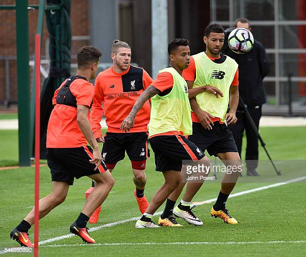 Allan Rodrigues De Souza of Liverpool during a training session at Melwood Training Ground on July 12 2016 in Liverpool England