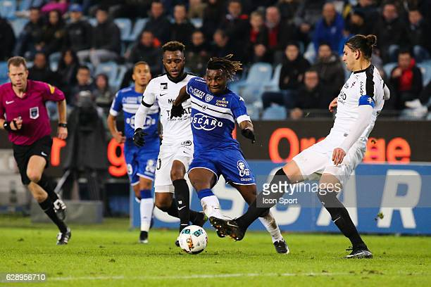 Allan Saint Maximin of Bastia during the French Ligue 1 match between Bastia and Metz at Stade Armand Cesari on December 10 2016 in Bastia France