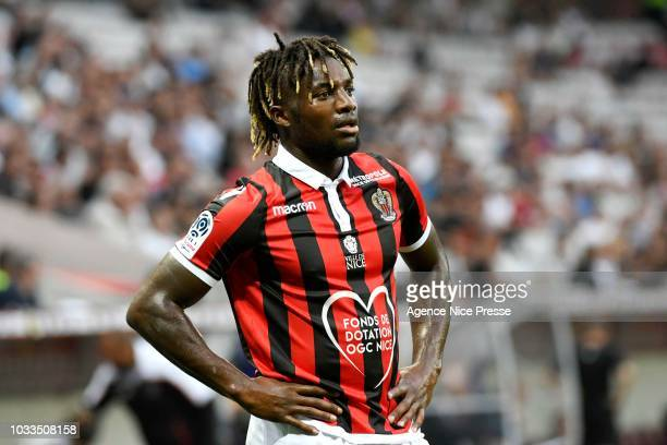 Allan Saint Maximin of Nice during the French Ligue 1 match between Nice and Rennes on September 14 2018 in Nice France
