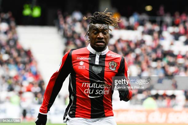 Allan Saint Maximin of Nice during the Ligue 1 match between OGC Nice and Stade Rennes at Allianz Riviera on April 8 2018 in Nice