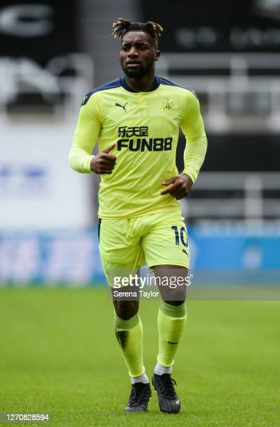 Allan SaintMaximin of Newcastle United FC during the Pre Season Friendly between Newcastle United and Stoke City at St James' Park on September 05...