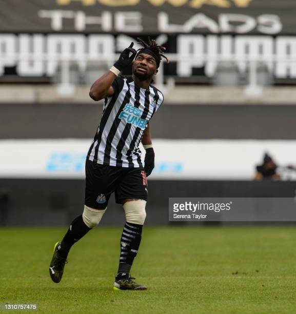 Allan Saint-Maximin of Newcastle United FC during the Premier League match between Newcastle United and Tottenham Hotspur at St. James Park on April...