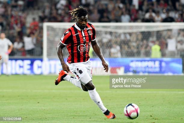 Allan SaintMaximin of Nice during the French Ligue 1 match between Nice and Reims at Allianz Riviera Stadium on August 11 2018 in Nice France