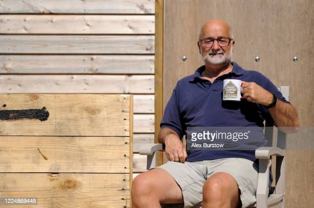Allan Walker Chairman of the Church Crookham and Fleet Men's Shed poses for a portrait outside the shed on May 06 2020 in Church Crookham England...