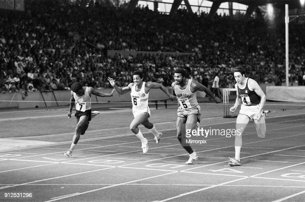 Allan Wells comes in fourth place at the Rotary Watches Athletics 23rd August 1978
