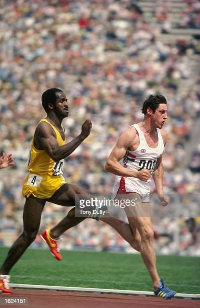 Allan Wells of Great Britain on his way to victory during the100 Metres event at the1980 Olympic Games in Moscow Mandatory Credit Tony Duffy/Allsport