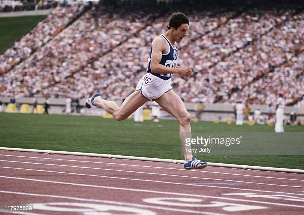 Allan Wells of Scotland during the Men's 100 metres event on 8th August 1978 at the XIIth Commonwealth Games at the Commonwealth Stadium in Edmonton...