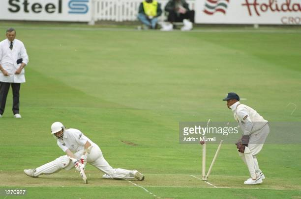 Allan Wells of Sussex is bowled out during the Nat West Trophy final against Warwickshire at Lord's in London Warwickshire won the match Mandatory...