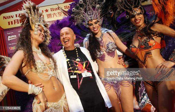 Allan Zeman attends press conference of Lan Kwai Fong Carnival 2012 at Lan Kwai Fong Central