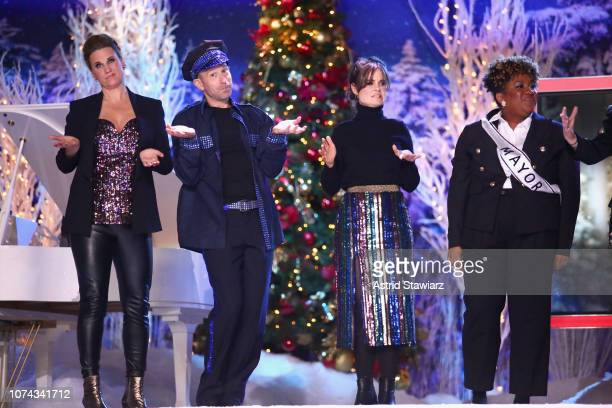 Allana Harkin Mike Rubens Amy Hoggart and Ashley Nicole Black perform during Full Frontal With Samantha Bee Presents Christmas On ICE at PlayStation...