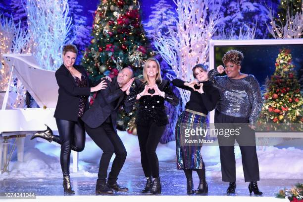 Allana Harkin Mike Rubens Samantha Bee Amy Hoggart and Ashley Nicole Black perform during Full Frontal With Samantha Bee Presents Christmas On ICE at...