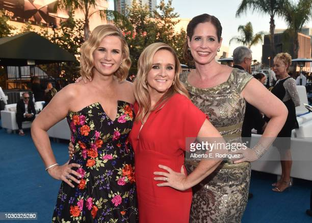 Allana Harkin Samantha Bee and Alison Camillo attend the 2018 Creative Arts Ball at on September 9 2018 in Los Angeles California