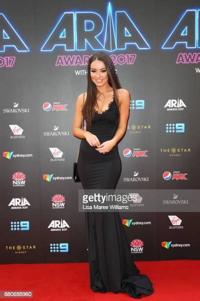 Allana Watts arrives for the 31st Annual ARIA Awards 2017 at The Star on November 28 2017 in Sydney Australia