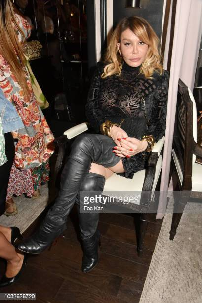 Allanah Star attends the Stefanie Renoma Exhibition Preview Party at Le Masha Club on September 12 2018 in Paris France