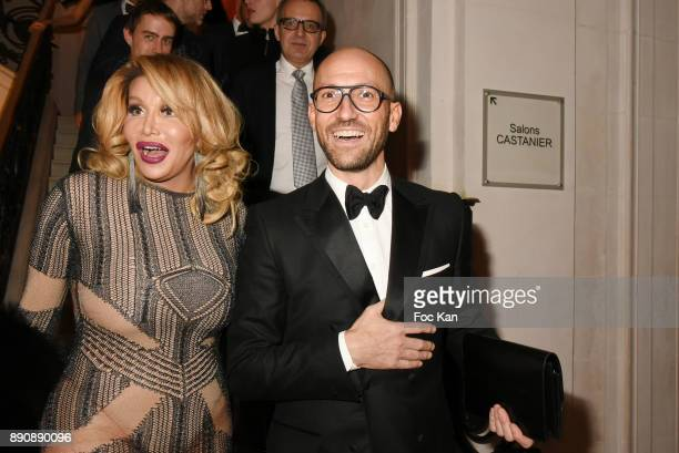 Allanah Starr and Emmanuel d'Orazioattend Link Pour Aides Charity Dinner at Pavillon Cambon on December 11 2017 in Paris France