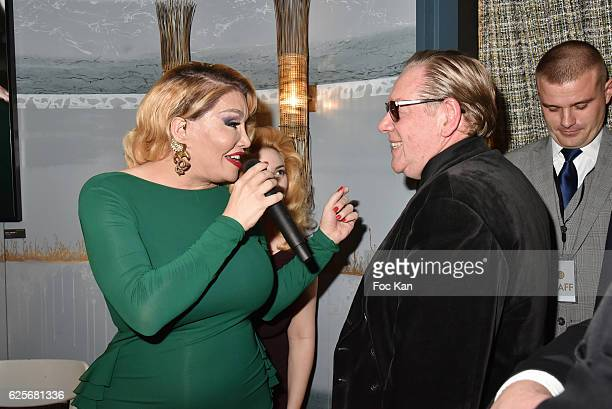 Allanah Starr and Herve Leger attend 'Vibrations' Stefanie Renoma Photo Exhibition at Hotel Nolinski on November 24 2016 in Paris France