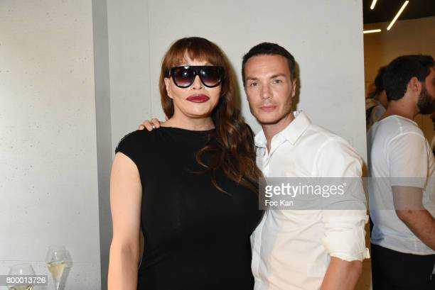 Allanah Starr and Maxime Simoens attends the MX Paris Max Simoens Flagship Opening Show Party as part of Paris Fashion Week on June 22 2017 in Paris...