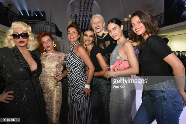 Allanah Starr guest and Jean Paul Gaultier show dancers attend the JeanPaul Gaultier Haute Couture Fall Winter 2018/2019 show as part of Paris...