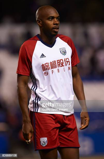 AllanRomeo Nyom of West Bromwich Albion looks on during the Pre Season Friendly match between Deportivo de La Coruna and West Bromwich Albion at...