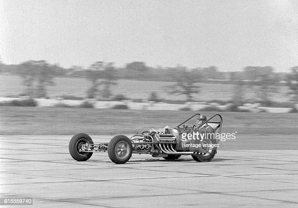Allard dragster driven by Sydney Allard during testing at North Weald Airfield in Essex 1961 Artist