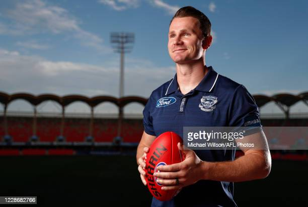 All-Australian Captain Patrick Dangerfield of the Cats poses for a photograph during The AFL Awards at Metricon Stadium on September 23, 2020 on the...