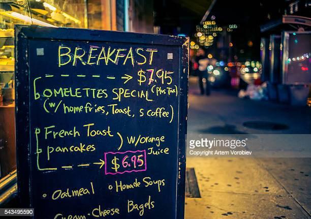 All-day breakfast menu in Manhattan