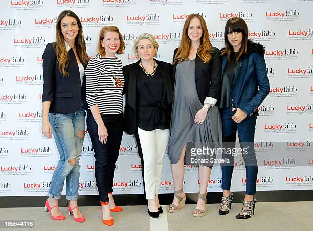 Alle Fister Theresa Canning Zast Lucky Magazine Publisher Gillian Gorman Kimberly Tobman and Mandana Dayani attends the firstever Lucky Magazine two...