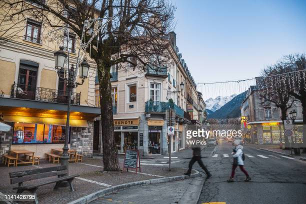 Allee d'Etigny street. Bagneres de Luchon. Haute-Garonne. Midi Pyrenees. France.